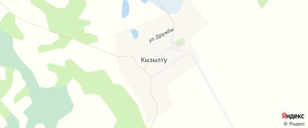 Карта поселка Кызылту в Алтайском крае с улицами и номерами домов