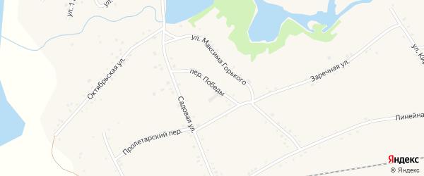 Переулок Победы на карте села Леньки с номерами домов