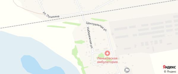 Набережная улица на карте села Леньки с номерами домов