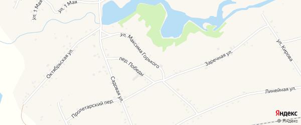 Улица Горького на карте села Леньки с номерами домов