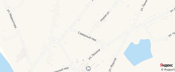 Северный переулок на карте села Леньки с номерами домов