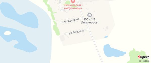 Улица Гагарина на карте села Леньки с номерами домов