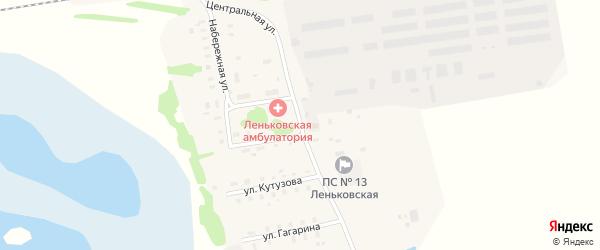 Центральная улица на карте села Леньки с номерами домов