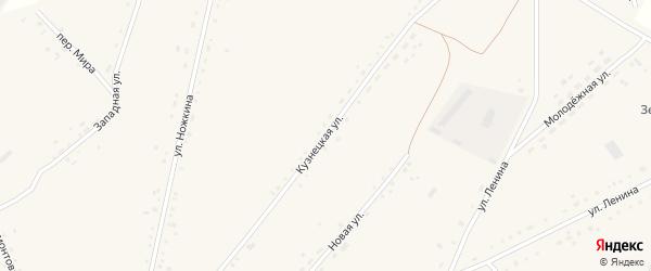Кузнецкая улица на карте села Леньки с номерами домов