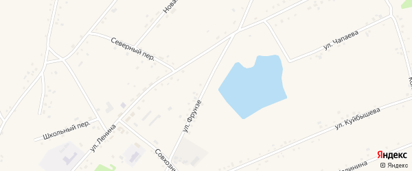 Улица Фрунзе на карте села Леньки с номерами домов