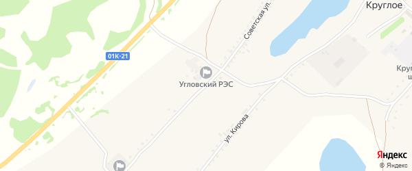 Советская улица на карте Круглого села с номерами домов
