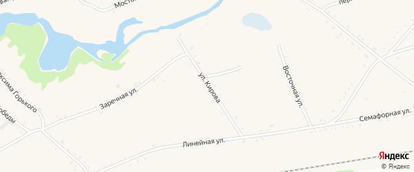 Улица Кирова на карте села Леньки с номерами домов
