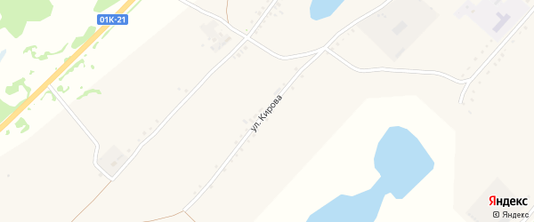 Улица Кирова на карте Круглого села с номерами домов