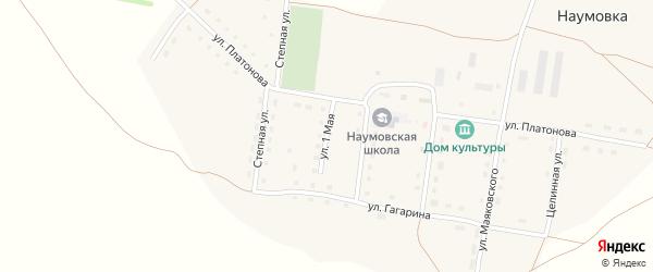 1 Мая улица на карте села Наумовки с номерами домов