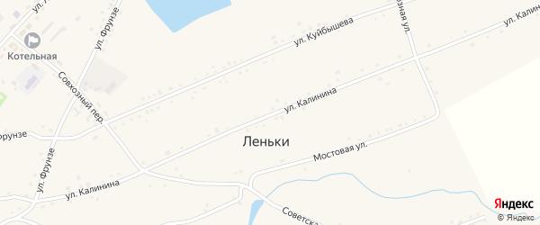 Улица Калинина на карте села Леньки с номерами домов
