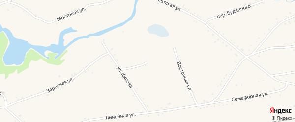 Переулок Ильича на карте села Леньки с номерами домов
