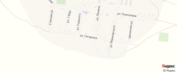 Улица Гагарина на карте села Наумовки с номерами домов