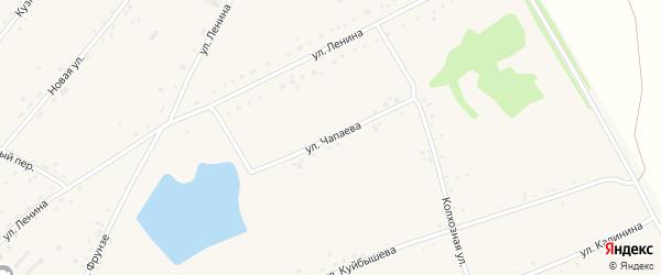 Улица Чапаева на карте села Леньки с номерами домов