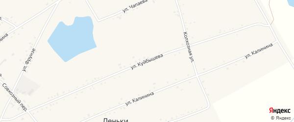 Улица Куйбышева на карте села Леньки с номерами домов
