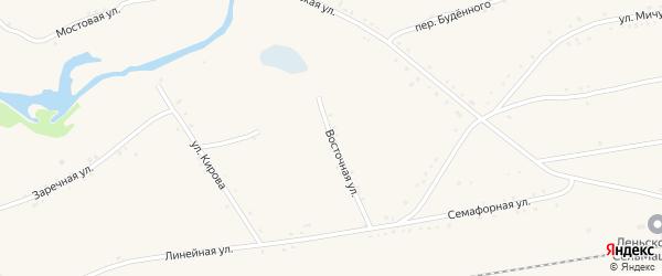 Восточная улица на карте села Леньки с номерами домов