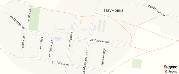 Улица Маяковского на карте села Наумовки с номерами домов