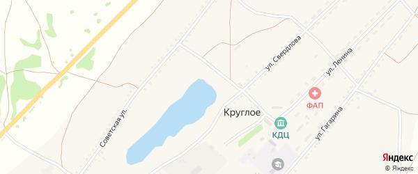 Улица Ленина на карте Круглого села с номерами домов