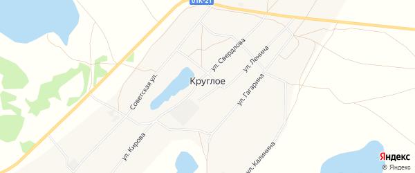 Карта Круглого села в Алтайском крае с улицами и номерами домов