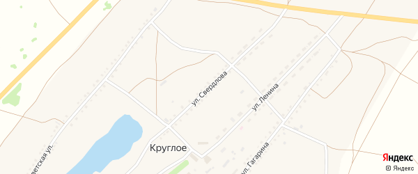 Улица Свердлова на карте Круглого села с номерами домов