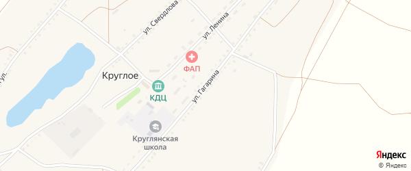Улица Гагарина на карте Круглого села с номерами домов