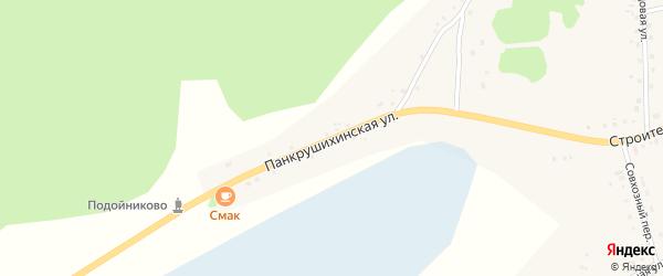 Панкрушихинская улица на карте села Подойниково с номерами домов