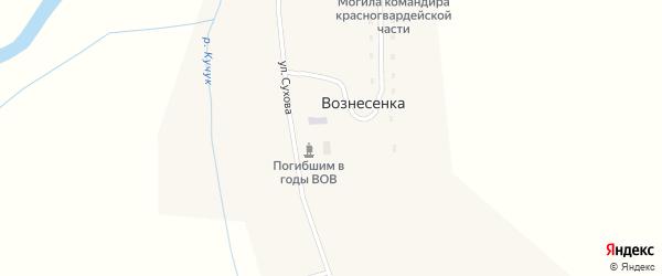 Улица М.Горького на карте села Вознесенки с номерами домов
