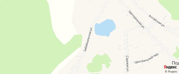 Забайкальская улица на карте села Подойниково с номерами домов