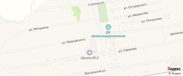 Улица Маяковского на карте села Леньки с номерами домов