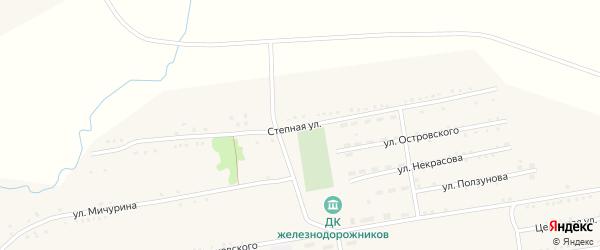 Степная улица на карте поселка Степного Озера с номерами домов