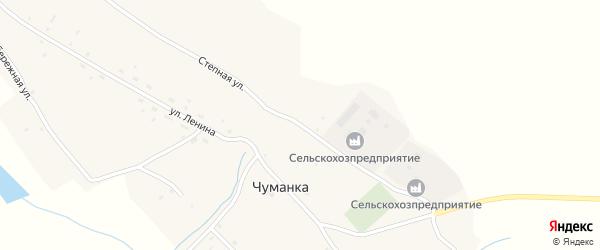 Степная улица на карте села Чуманки с номерами домов