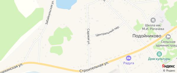 Садовая улица на карте села Подойниково с номерами домов