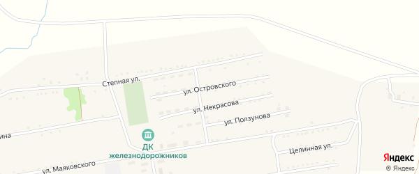 Улица Островского на карте села Леньки с номерами домов
