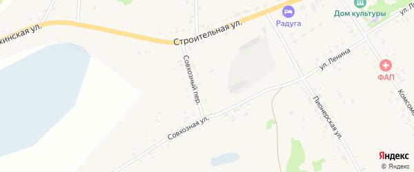 Совхозный переулок на карте села Подойниково с номерами домов