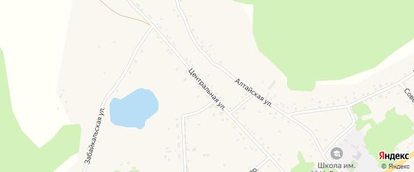 Центральная улица на карте села Подойниково с номерами домов