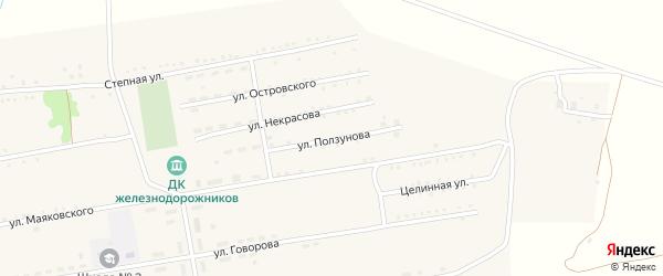 Улица Ползунова на карте села Леньки с номерами домов