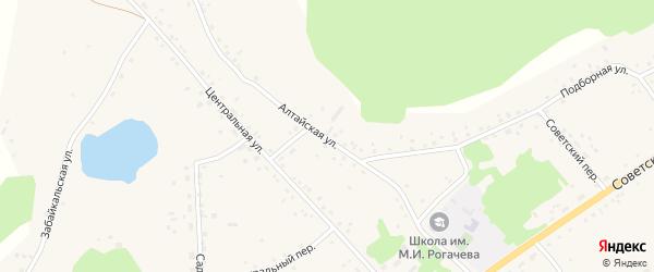 Алтайская улица на карте села Подойниково с номерами домов