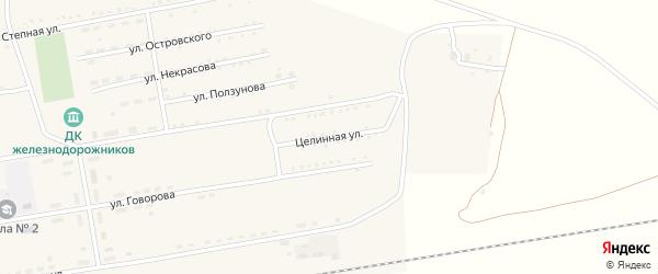 Целинная улица на карте села Леньки с номерами домов