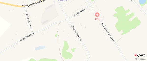 Пионерская улица на карте села Подойниково с номерами домов