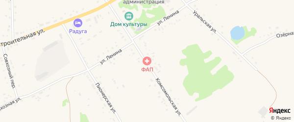 Комсомольская улица на карте села Подойниково с номерами домов