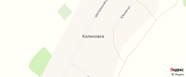 Южная улица на карте поселка Калиновки с номерами домов