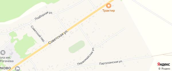 Спортивный переулок на карте села Подойниково с номерами домов