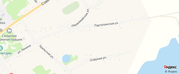 Партизанская улица на карте села Подойниково с номерами домов