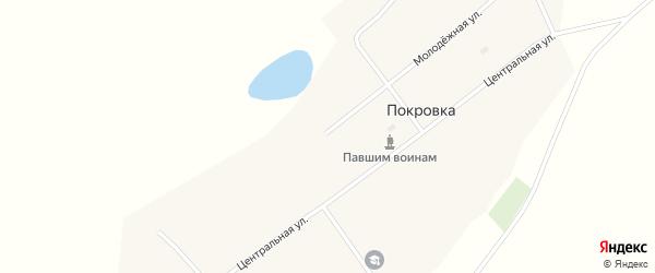 Ребровская улица на карте села Покровки с номерами домов