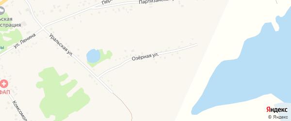 Озерная улица на карте села Подойниково с номерами домов