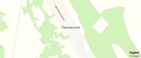 Центральная улица на карте Павловского поселка с номерами домов