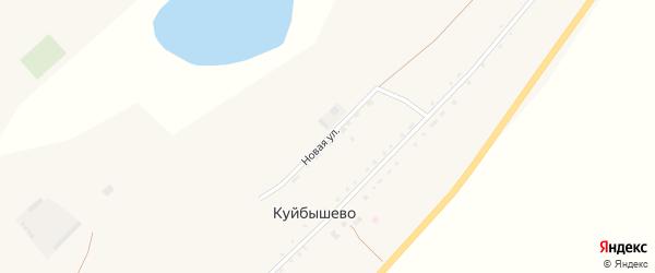 Новая улица на карте села Куйбышево с номерами домов
