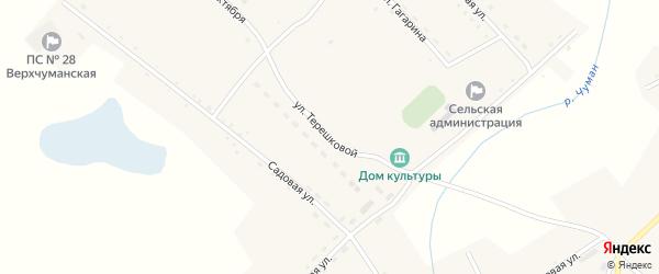 Улица Терешковой на карте села Верха-Чуманки с номерами домов
