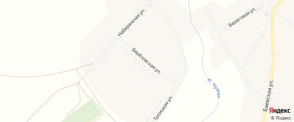 Березовская улица на карте села Верха-Чуманки с номерами домов