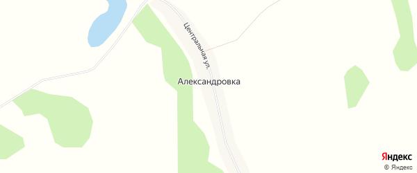 Карта поселка Александровки в Алтайском крае с улицами и номерами домов