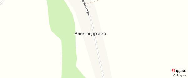 Центральная улица на карте поселка Александровки с номерами домов